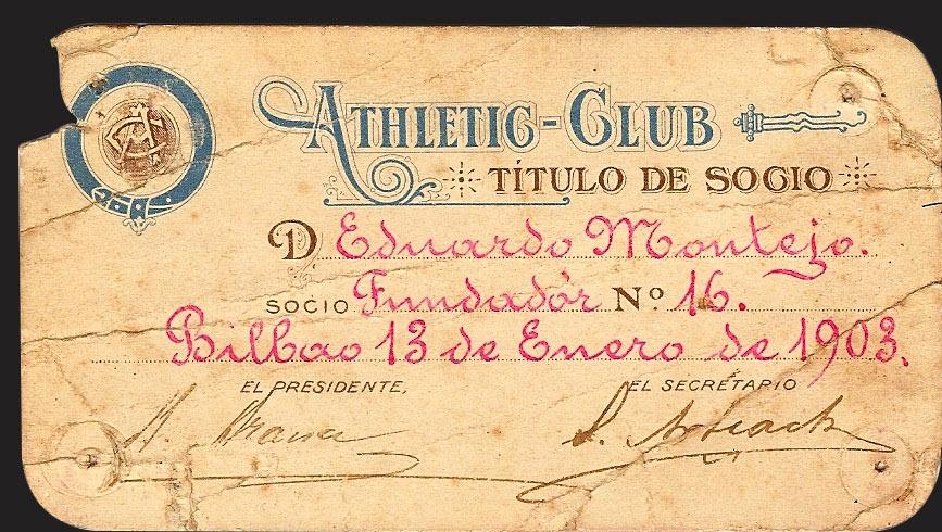 Fotografía de Founding member's card
